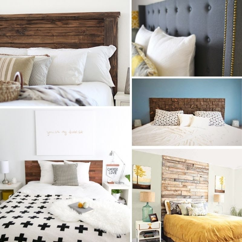 Freestanding Wood Headboard #DIY #homedecor